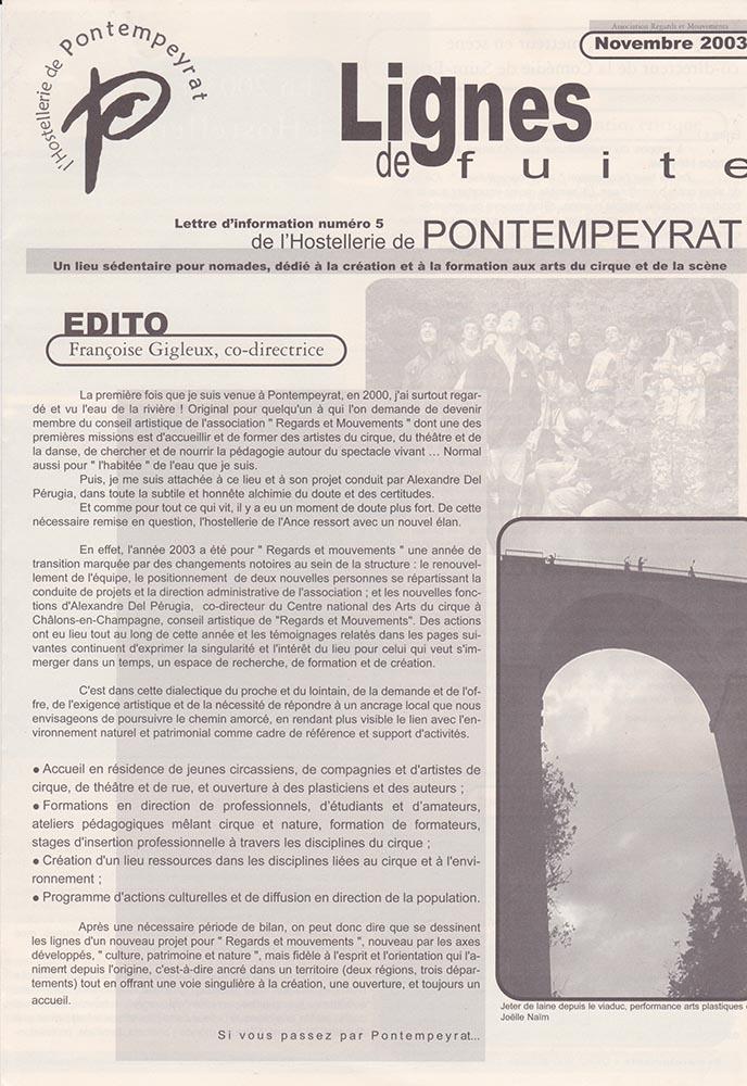 lettre-info-hostellerie-pontempeyrat-novembre-2003